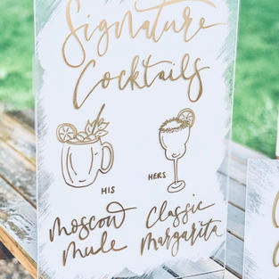 Signature Cocktails Acrylic Sign