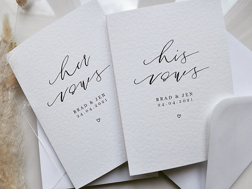 VOW CARDS