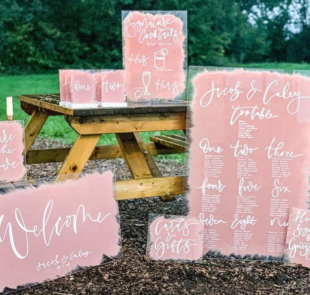 Acrylic Wedding Sign Packages