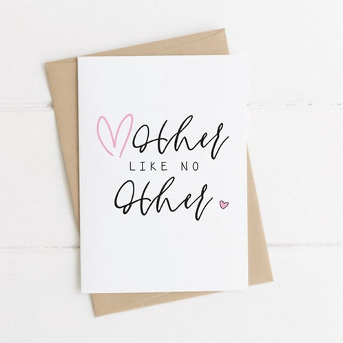 MOTHER LIKE NO OTHER // CARD