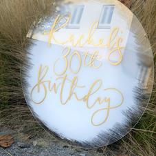 Acrylic Birthday Sign