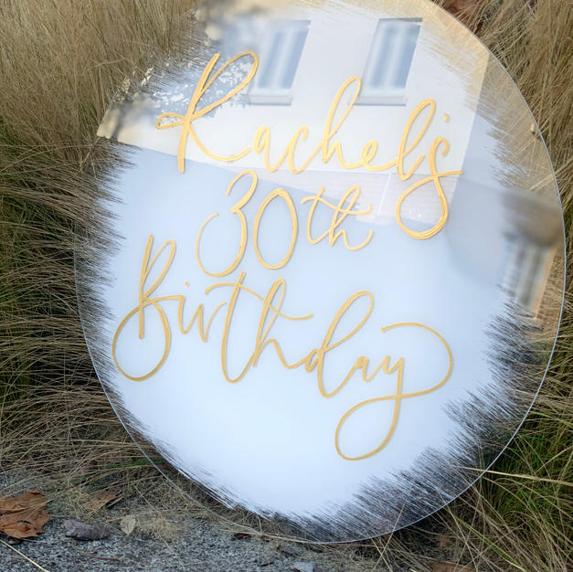 Acrylic Birthday Sign