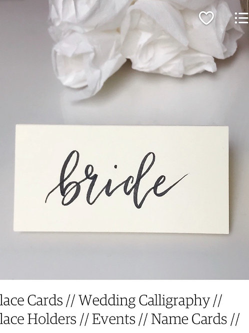 Place Cards | Wedding Calligraphy