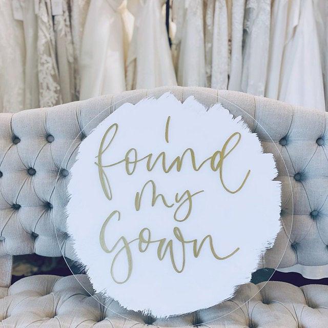 I found my gown