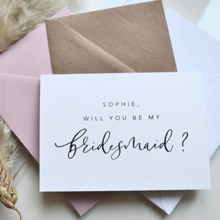 Personalised: Will You Be My Bridesmaid