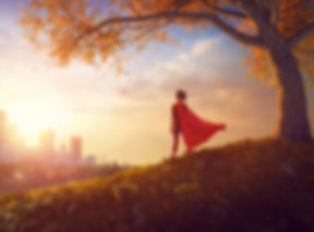 Little child is playing superhero.jpg Kid on the background of autumn landscape.jpg Girl power conce
