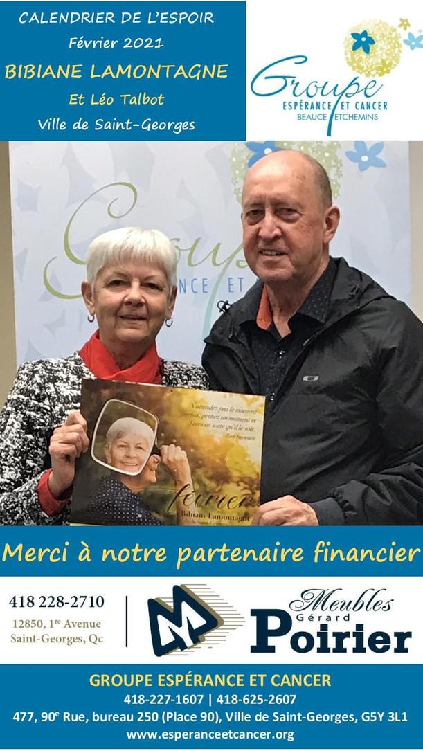 2- Bibiane Lamontagne et Léo Talbot - fé