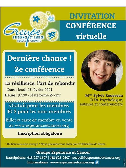 Billets pour une Conférence de Sylvie Rousseau
