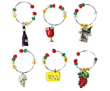 Wine Charms - Wine Selection - S/6