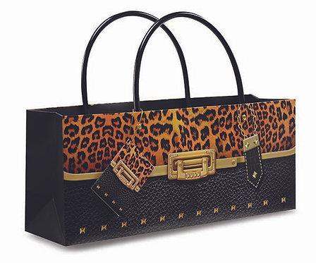 Purse Bag - Leopard Wine Bottle Gift Bag