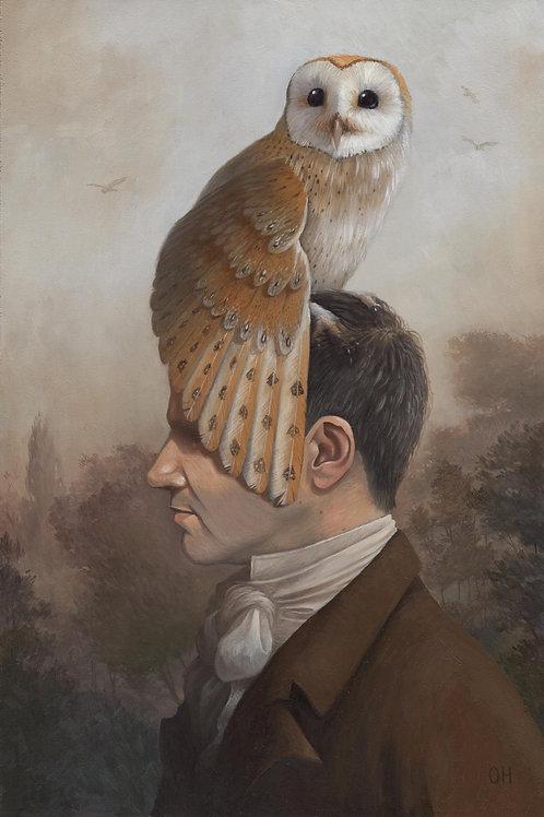 Man with a Barn Owl