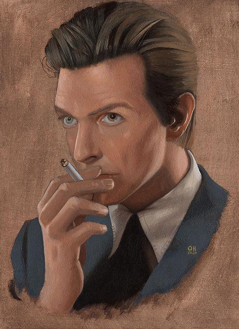 David Bowie Oil Study