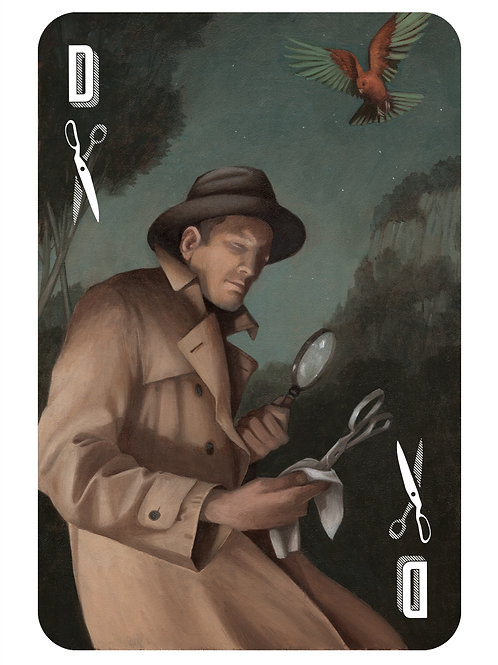 The Hidden Suits: The Detective of Scissors - Limited Edition print