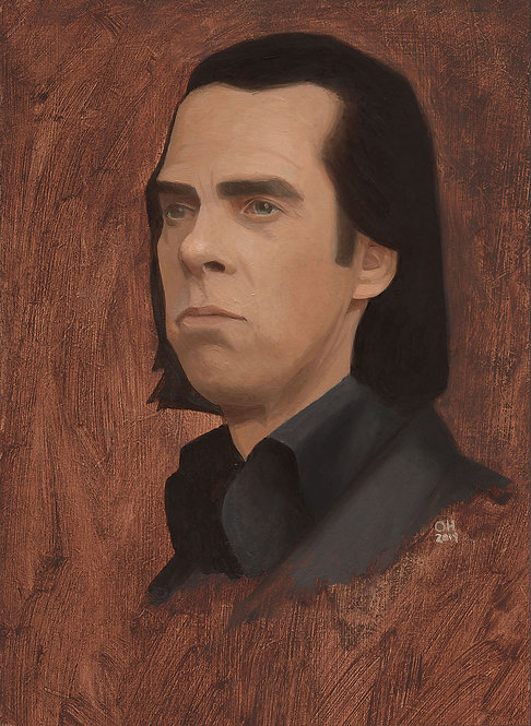 Nick Cave Oil Study