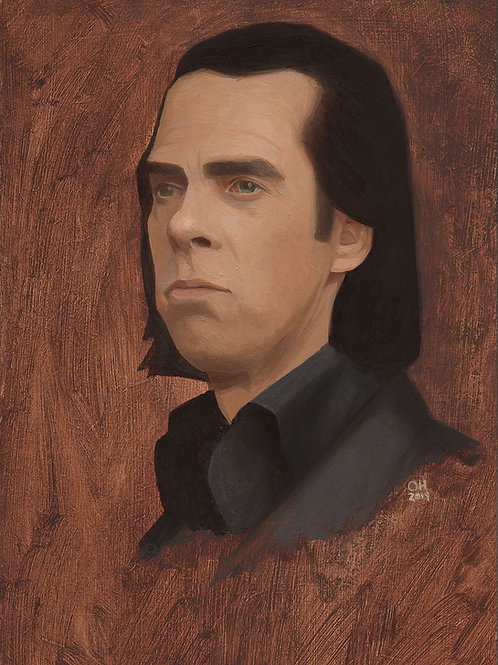 Nick Cave Oil Study - Limited Edition print
