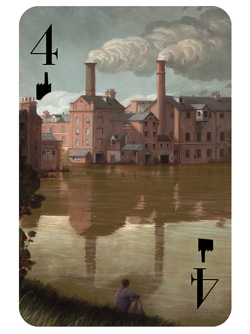 The Hidden Suits: The 4 of Chimneys - Limited Edition print
