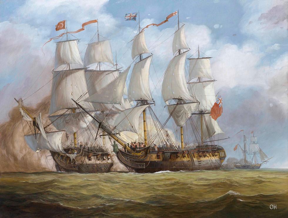 HMS Surprise and Turkish frigate Torgud