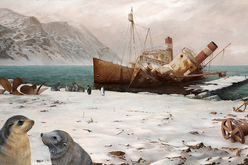 Grytviken Harbour - Limited Edition print