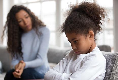 Mom or psychologist talking counseling u