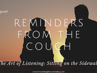 Reminders from the Coach on Sitting On the Sidewalk