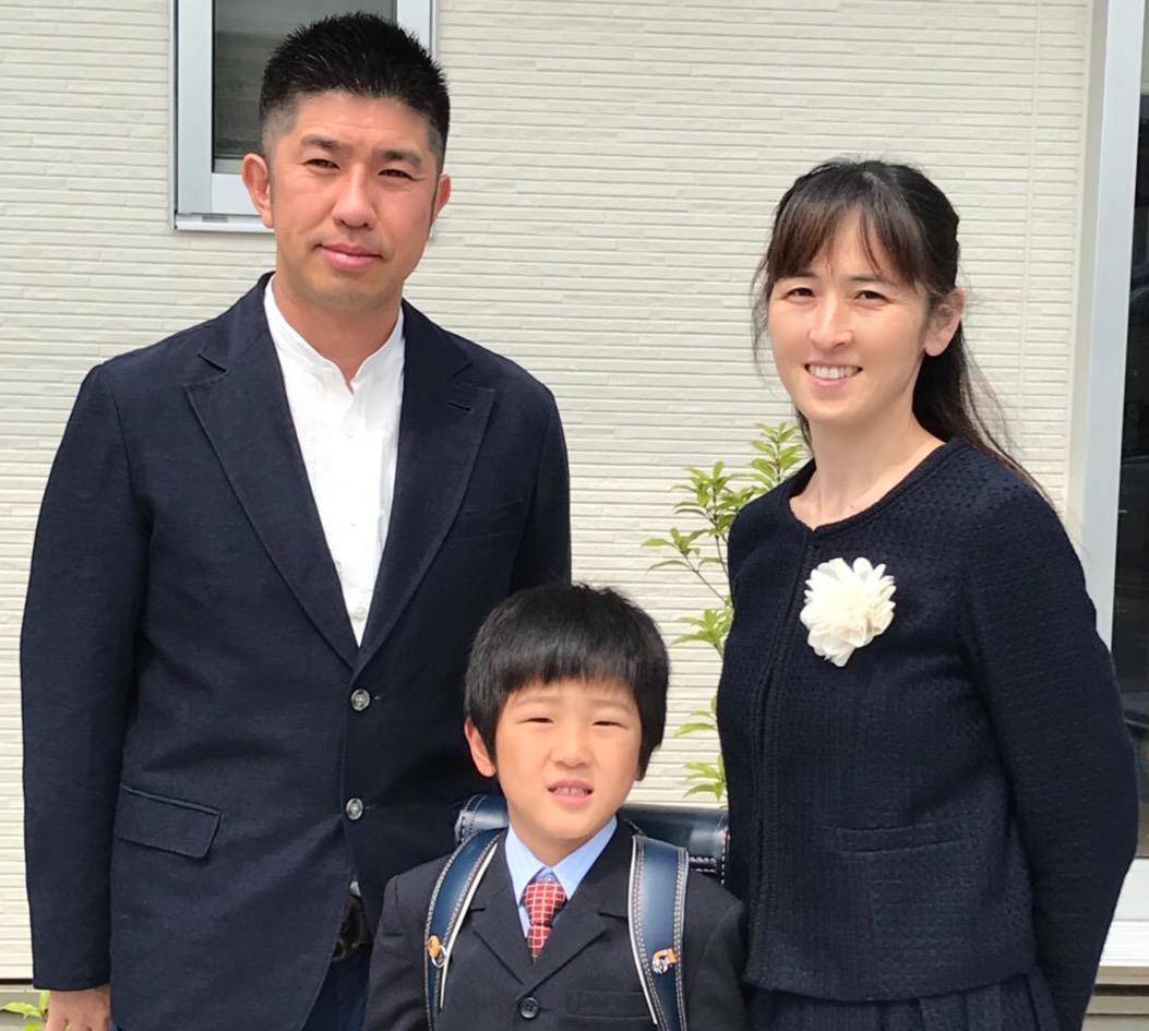 坂口様 入学式でご着用頂きました!