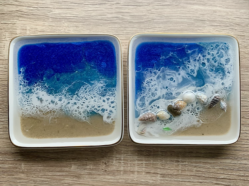 Real sand Trinket Dishes