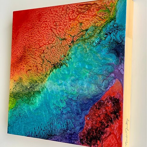 "Chasing Rainbows (12"" x 12""x1.5"")"