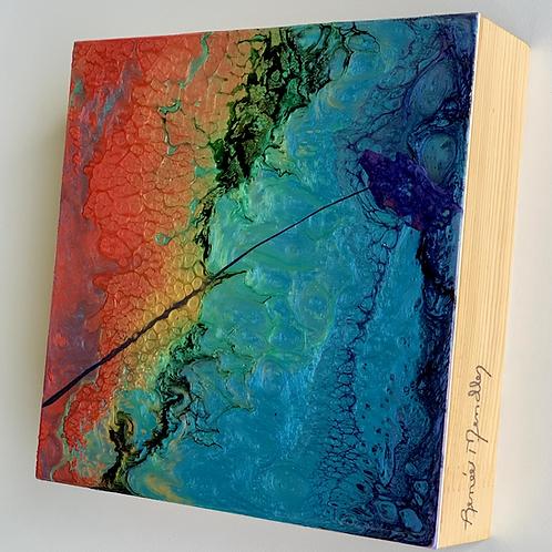 "Chasing Rainbows (6""x 6""x1.5"")"
