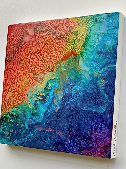 "Chasing Rainbows 3 (8""x 8""x 7/8"")"