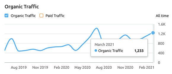 Organic Traffic growth SEO Analytics