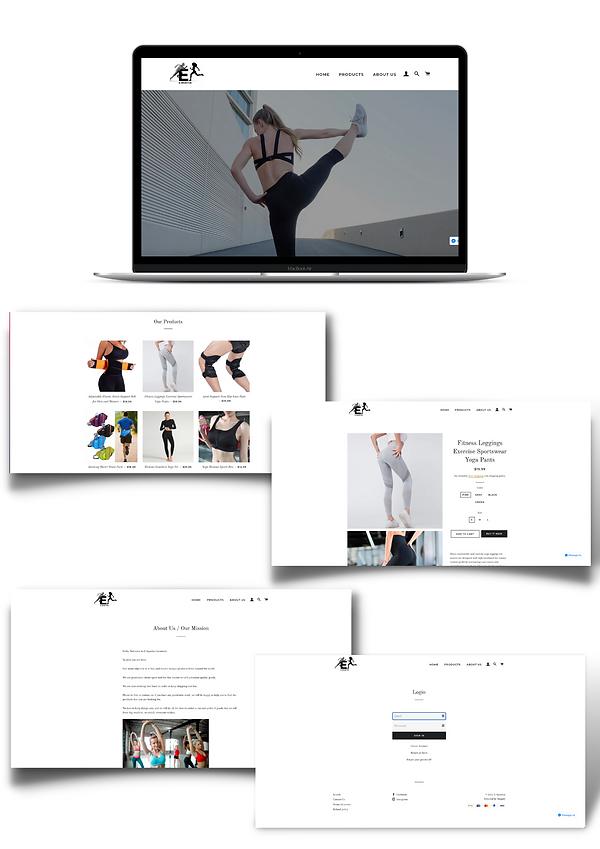 E-sportive E-commerce web design website