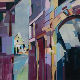 Ziano di Fiemme - between buildings