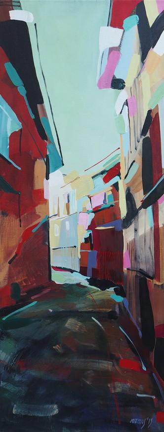 Val di Fiemme - street in red
