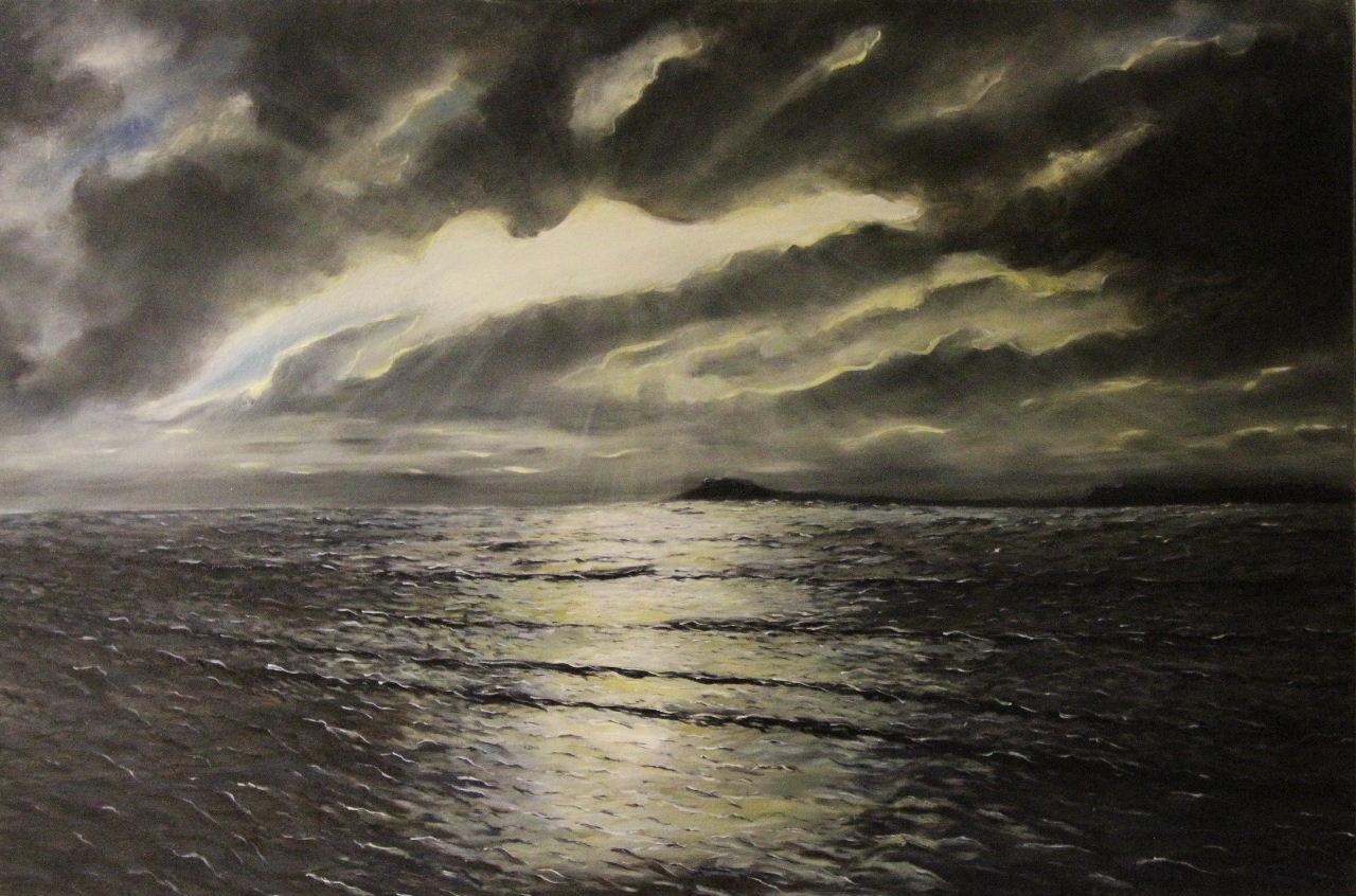 Storm over Hilbre