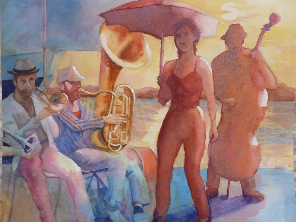 Tuba Skinny  By Norman Comyns Watercolour