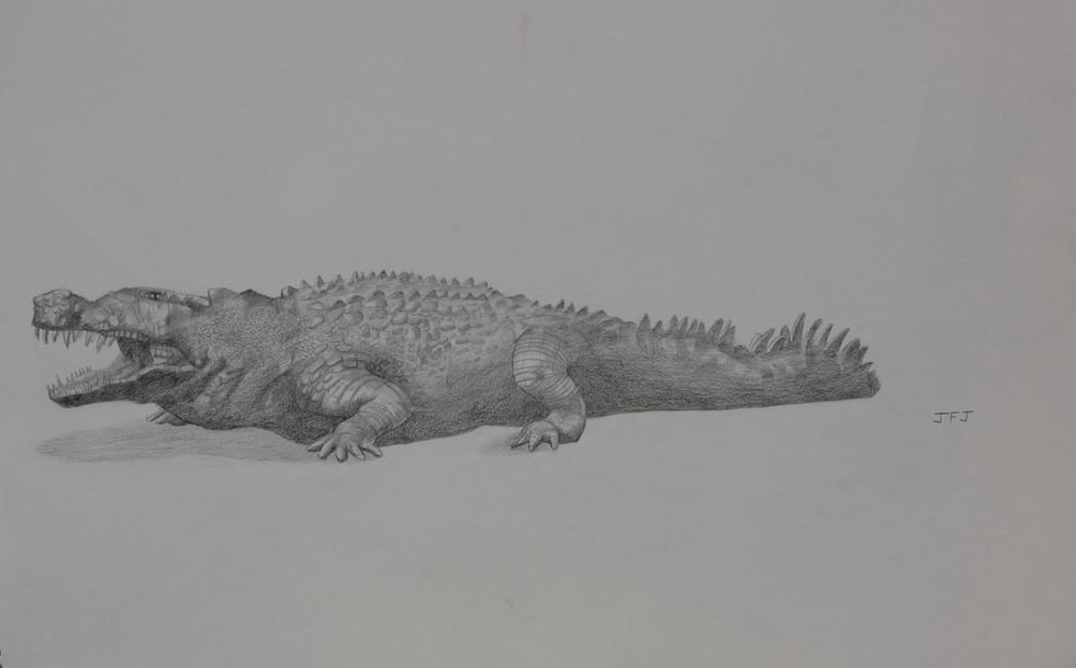 Dienosuchus   by John Jones