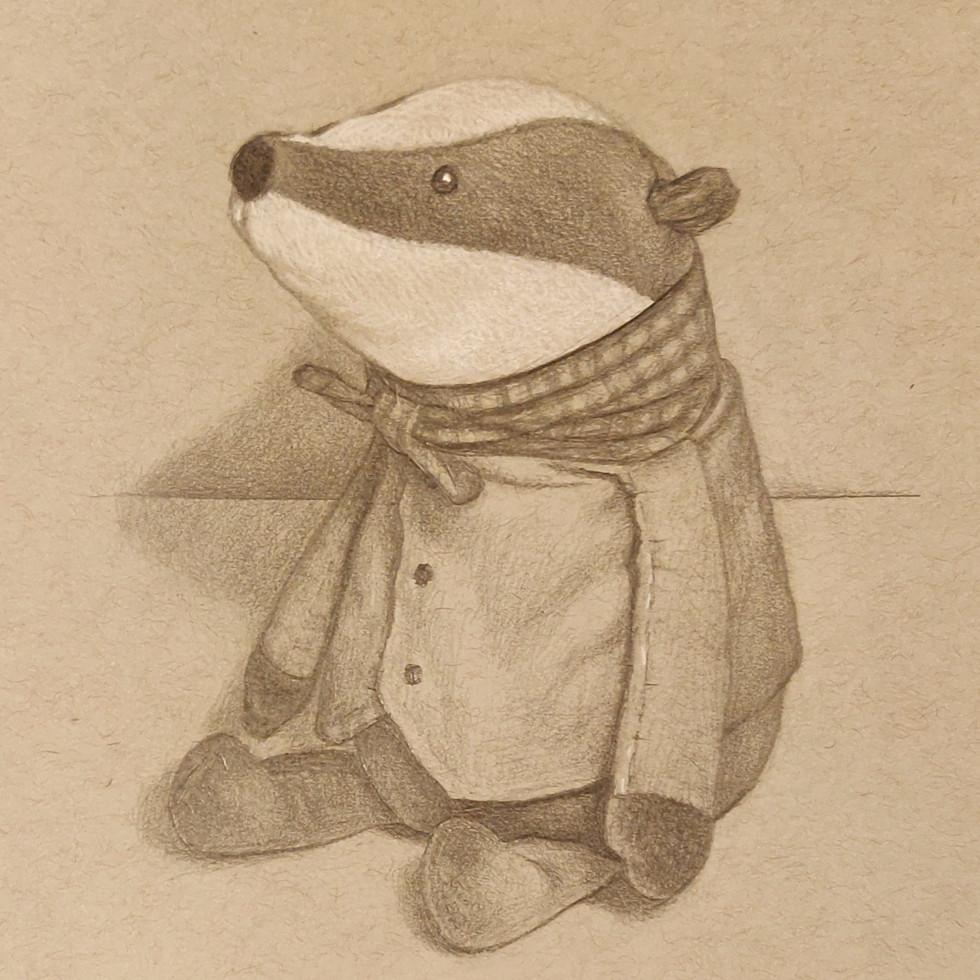 Mr Badger  By Chas Mason Pencil