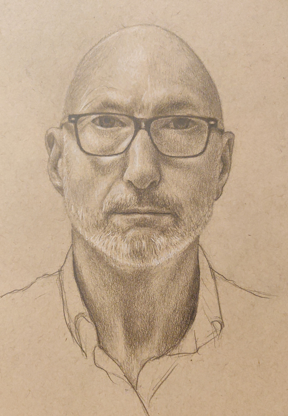 Self Portrait  By Chas Mason Pencil