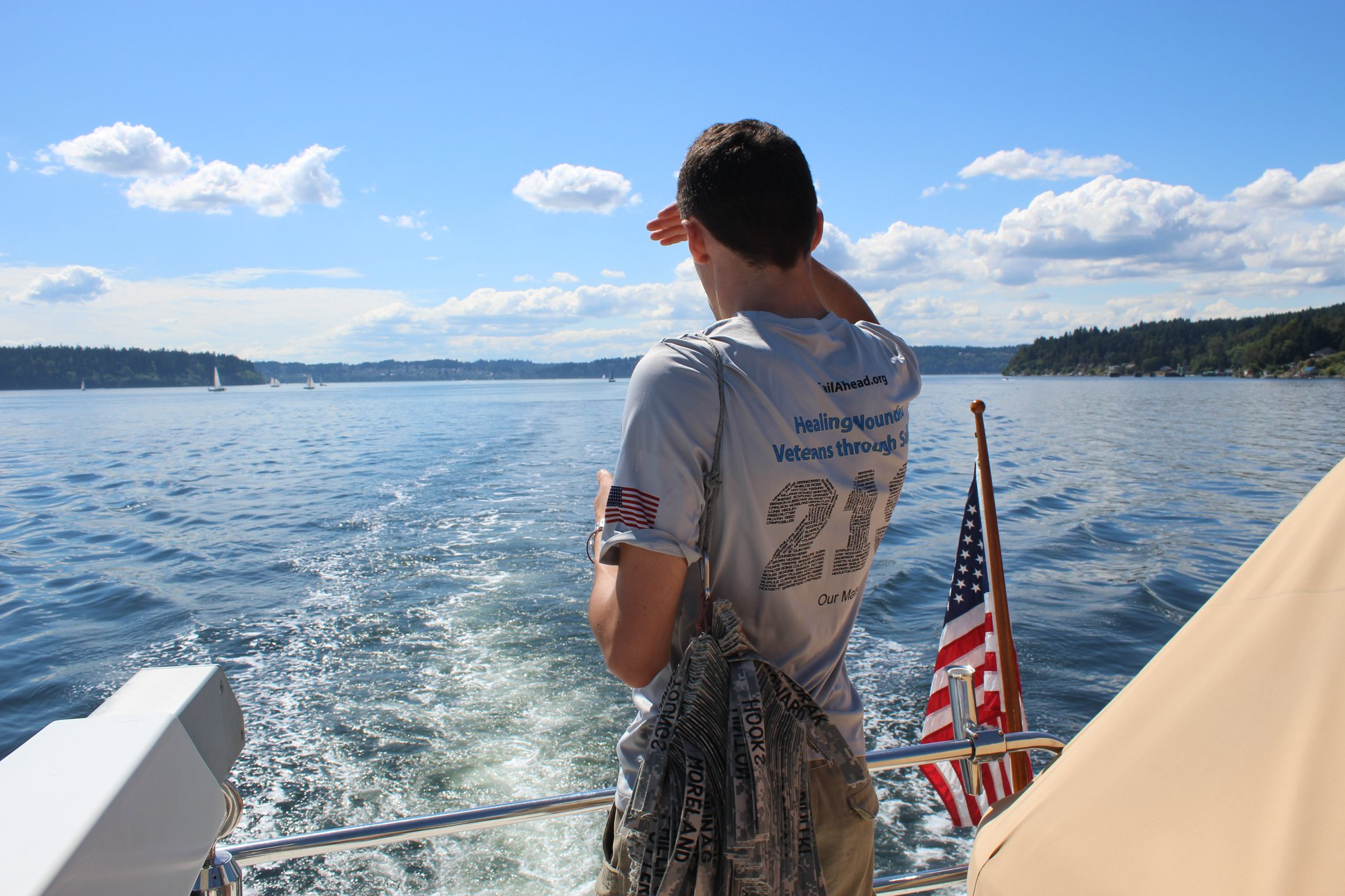 Mates sailing in the Puget Sound