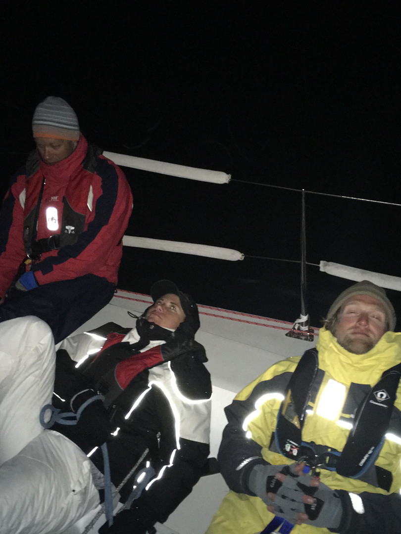 Sleepless night racing Block Island