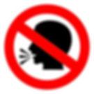 bigstock-Vector-no-talking-sign-38639947