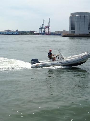 Support boat for Transat Bakerly