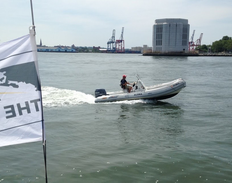 Support boat for Transat Bakerly
