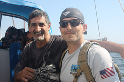 Bruce Blanco with Army Ranger Martinez a