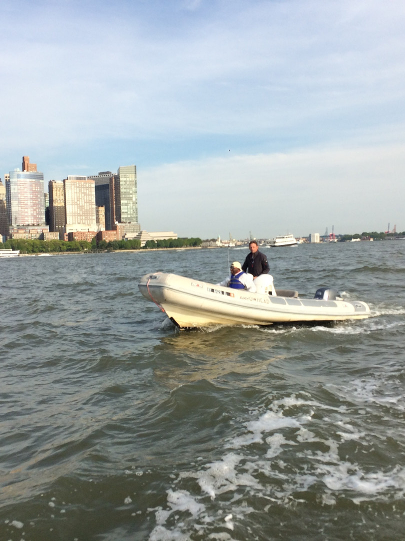 Safety RIB in NY Harbor