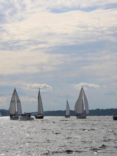 Sailing in Huntington Bay