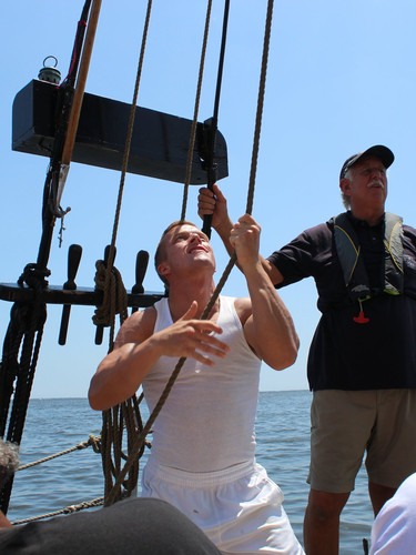 Hoisting the sails!