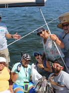 Sailing out of Huntington Bay