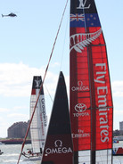 Watching the Louis Vuitton Cup in NY Harbor