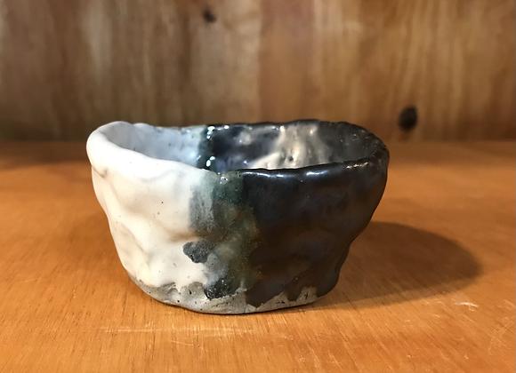 Metallic & Grey Mini Pot w/ a Twist